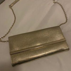 DVF Gold Clutch